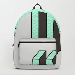 Mint and Chocolate Bricks Backpack