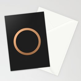 copper circle Stationery Cards