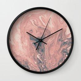 Maui Swirl in Pink Wall Clock