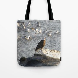 Eagle on Ice Tote Bag