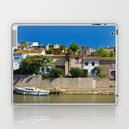 old houses on the canal du midi, france 4 Laptop & iPad Skin