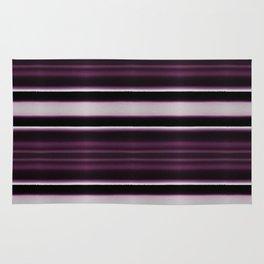 Elegant Bold Purple and Siver Stripes Rug