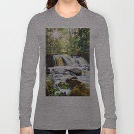 Upper Chapel Falls at Pictured Rocks National Lakeshore - Michigan Long Sleeve T-shirt