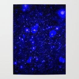 Dark Matter Galaxy Blue Poster