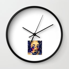 Red Cheeks Woman Wall Clock