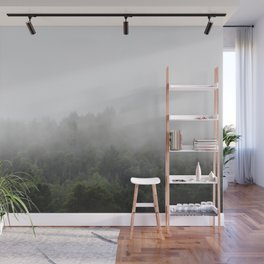Foggy Forest Mist Landscape Photography | Woods | Nature | Travel | Rustic Wall Mural