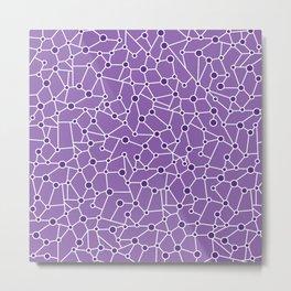Stellar Purple Metal Print