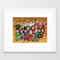 dbz Framed Art Prints featuring DBZ Mexican Voice Actors by Neokoi