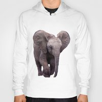 baby elephant Hoodies featuring Baby Elephant by Erika Kaisersot