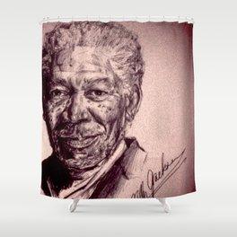 Morgan Freeman Shower Curtain