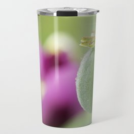 Hungarian Blue Bread Seed Poppy | Seed Pod Alternate Perspective Travel Mug