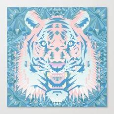 Pastel Quartz Tiger Canvas Print