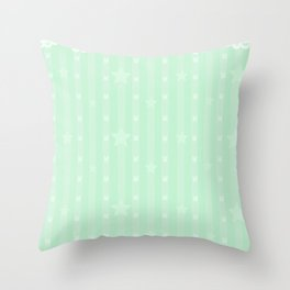 Kawaii Green Throw Pillow