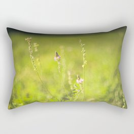 Wild flowers in the green meadow Rectangular Pillow