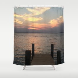 Baesic Lonely Dock Shower Curtain