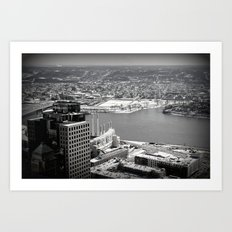 Cincinnati - Downtown #1 Art Print