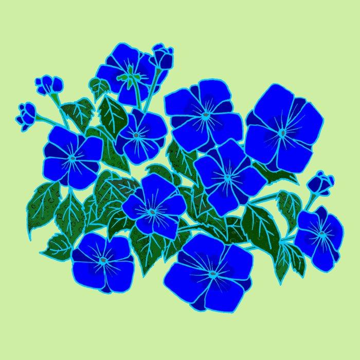 Blue Violets #5 Duvet Cover