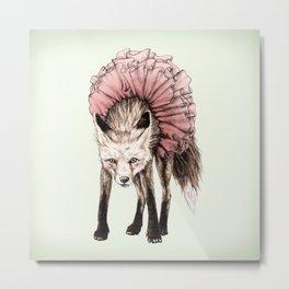 Fox In A Tutu 2 Metal Print