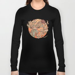 Deer Smoke & Indian Paintbrush Long Sleeve T-shirt