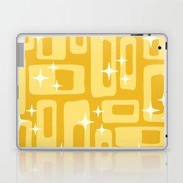 Retro Mid Century Modern Abstract Pattern 127 Yellow Laptop & iPad Skin