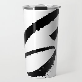 Letter S Ink Monogram Travel Mug