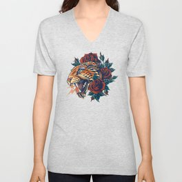 Ornate Leopard (Color Version) Unisex V-Neck