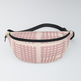Mid Century Modern Abstract Squares Dusty Rose 552 Fanny Pack