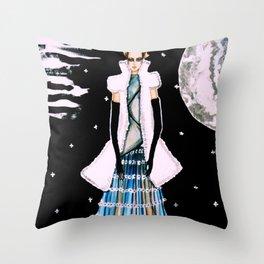 Ethereal Beauty Fashion Illustration By James Thomas Ryan Throw Pillow