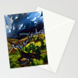 El Greco View of Toledo Stationery Cards