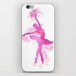 Ballerina watercolor iPhone Skin