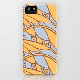 Modern art nouveau tessellations gamboge azure iPhone Case