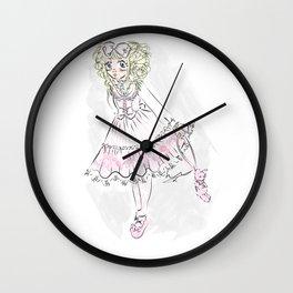 Candy Bear Stripe Wall Clock