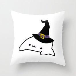 Halloween Bongo Cat Meme Throw Pillow