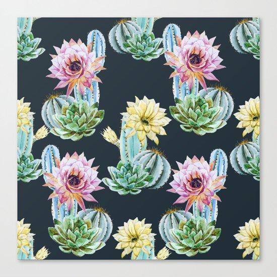 Cactus Pattern 07 Canvas Print