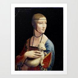 The Lady with an Ermine - Leonardo da Vinci Art Print