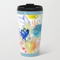 Fleurs Quilt Metal Travel Mug