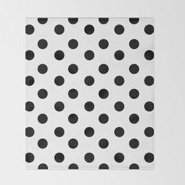 White & Black Polka Dots Throw Blanket