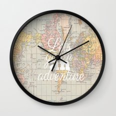 Lets Go On An Adventure  Wall Clock