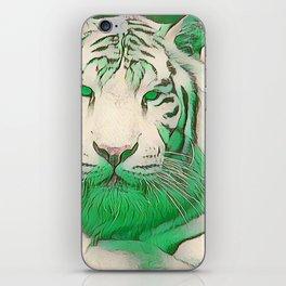 Green Tiger iPhone Skin