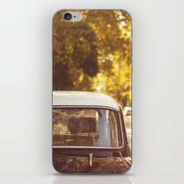 Autumn streets iPhone Skin