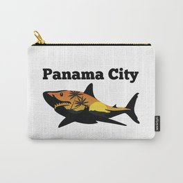 Panama City shark and sunset Carry-All Pouch