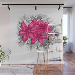 Pink Lilies Wall Mural