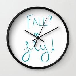 Fall? no, Fly! Wall Clock