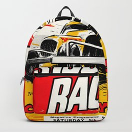 Coventry Stock Car Racing Poster Backpack