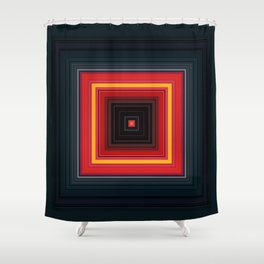 Bright Red Square Design Shower Curtain