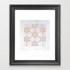 estrellas metal Framed Art Print
