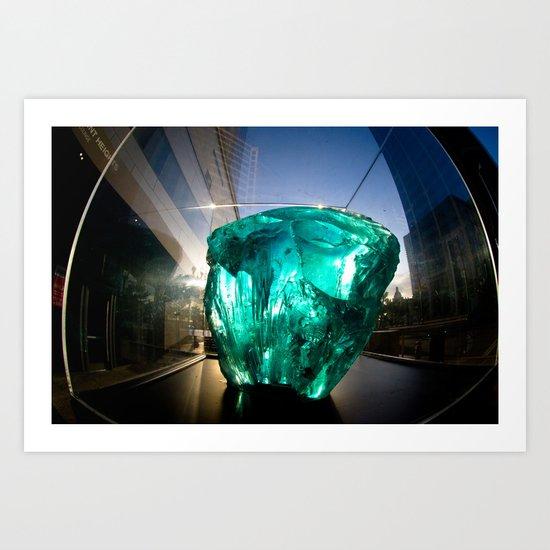 Kryptonite Art Print