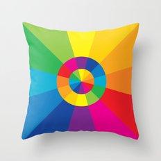 Color Wheel Throw Pillow