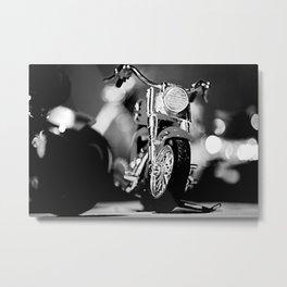 Motorbike-B&W Metal Print