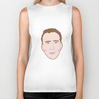 nicolas cage Biker Tanks featuring Nicole Cage by Ted Deacey